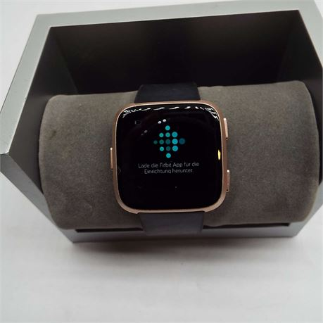 Square Womens Rose Gold Tone Wearable Fit Bit Tracker Works No Charger