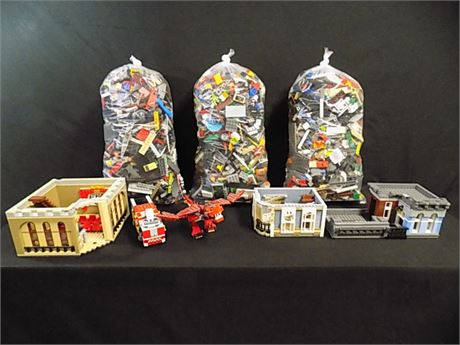 Assorted LEGO Lot, 22.3 lbs