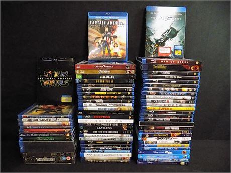 Blu-Ray Movie Lot; 65 Pieces