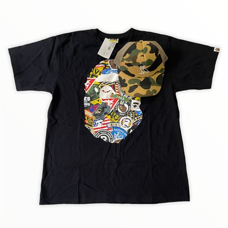 Bathing Ape (BAPE) Men's T-Shirt and Camo Snapback