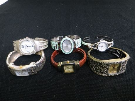 Lot Of 6 Bangle style Womens Watches