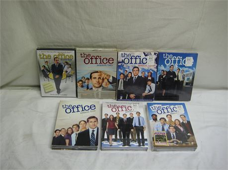 The Office Season's One Through Seven DVD Sets Brand New