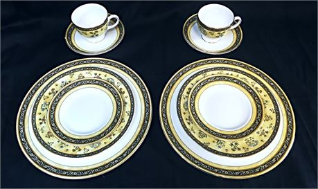 NWT Wedgewood India Pattern - 2 Complete 5Pc Place Settings