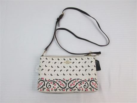 Coach F59332 Black/White / Red Butterfy Print