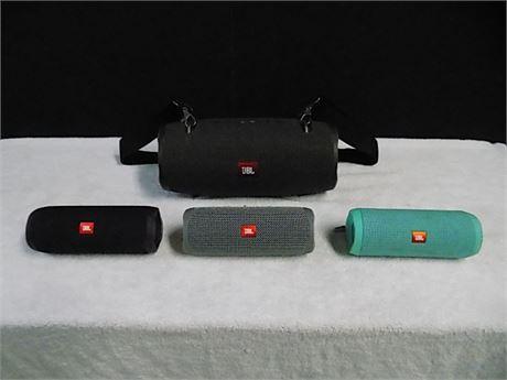 JBL Wireless/Bluetooth Speakers; Xtreme2 + Flip5(x2) + Flip4; 4 Pieces