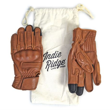 """Lot of 14, Indie Ridge """"The Golden Glove"""" Leather Motorcycle Gloves Small 