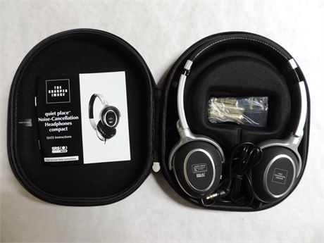 The Sharper Image Noise-Cancellation Headphones Quiet Place EXCELLENT COND.
