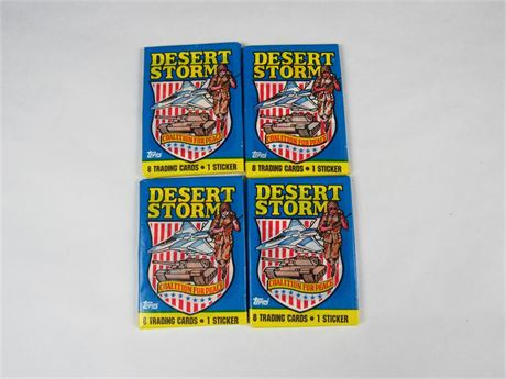 1991 DESERT STORM Card Pack Bundle of 4 packs #4 by TOPPS (650)