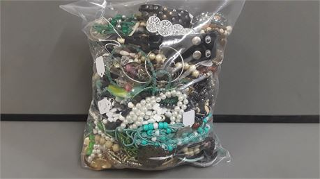 Lot Of Mixed Quick Sorted Costume Jewelry. 12 Lbs. 7.7 oz. W/ Bag