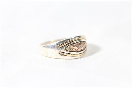 925 Silver & 10k Gold Ring, 6.09 Grams