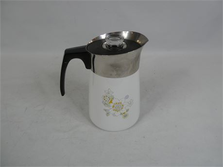 Vintage Corning Ware 6 Cup Stove Top Percolator, Complete