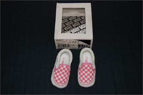 Vans Classic Slip On Girls Shoes Size 2 (500)