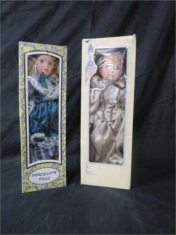 2 Porcelain Dolls (230-LV1F26)