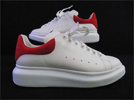 Alexander McQueen Lust Red Oversized Sneakers (Calfskin), Size:43