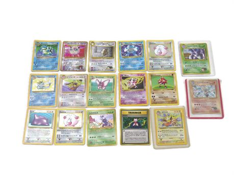 Lot of Holographic Pokemon Trading Cards - 1st Edition, Base Set, Jungle, Others