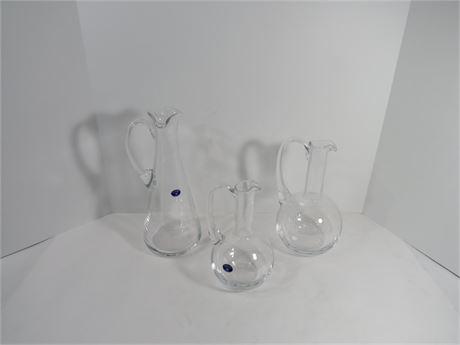 Set of 3 Bohemi glass pitchers (230-LVDD15)