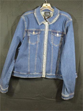 French Dressing Jean Jacket Size XXL