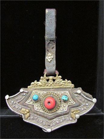 Authentic Antique 19th century Tibetan Belt Pouch Coin Purse