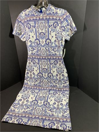 Anthropologie Blue/White Dress Size XS