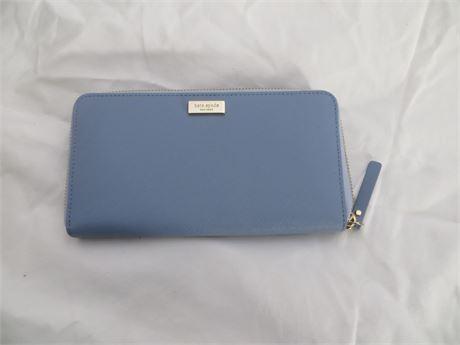Kate Spade Pastel Blue Wallet, NEW