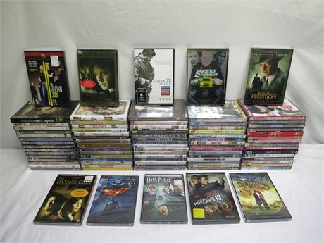 Huge Lot Of 80 Brand New DVD Movies