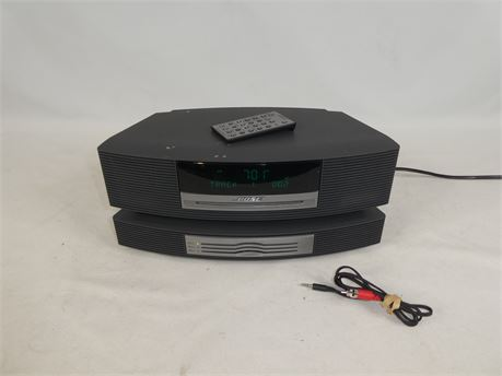 Bose Wave Music System w/ 3 Disc Changer & Remote Control