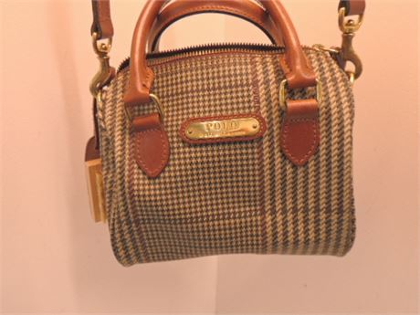 Polo By Ralph Lauren Small Cross Body & 2 Handle Bag W/Shoe Brush