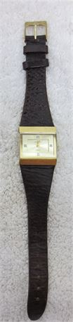 Anne Klein Gold Tone Watch with Leather Band