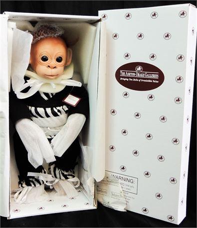 """Ashton Drake """"Little Binti"""" Baby Monkey 14"""" Doll by Cindy Sales Mint in Box!"""