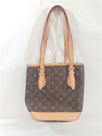Designer Monogram Brown Tote Bag. 11 X 10 X 6