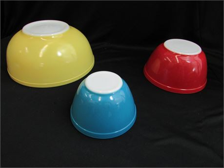 Pyrex Oven Ware Bowls 3 Pc