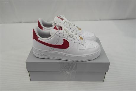Nike Air force 1 Womens shoe Size 6.5 White/Magenta