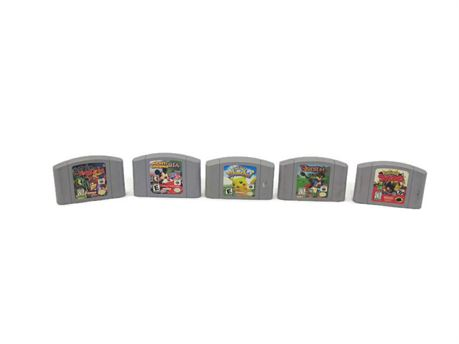 Lot of 5 Video Game Cartridges for the Nintendo 64 Game Console (670)