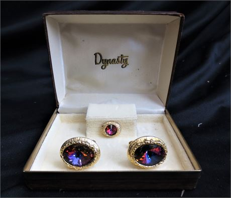 Vintage Cufflinks and Tiepin made by Dynasty