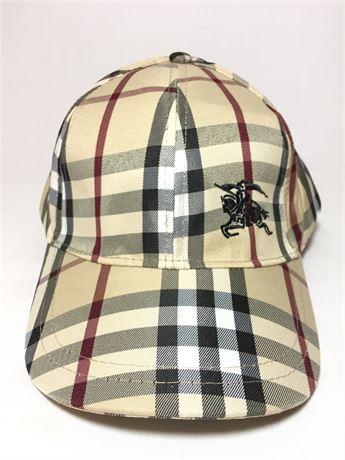 NEW! Burberry's London Plaid Khaki Hat
