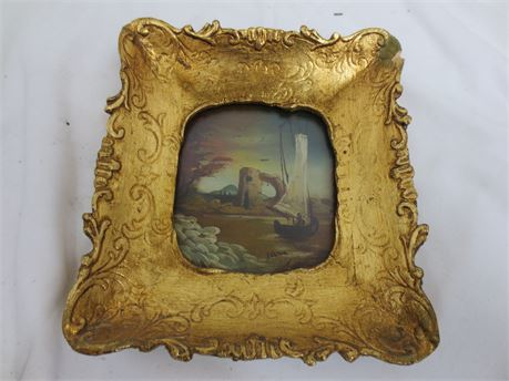 A Framed Original Mini Oil Painting from Tara Productions