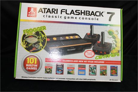 Atari Flashback 7 Classic Game Console with 1 Wireless Controllers (101 Games)