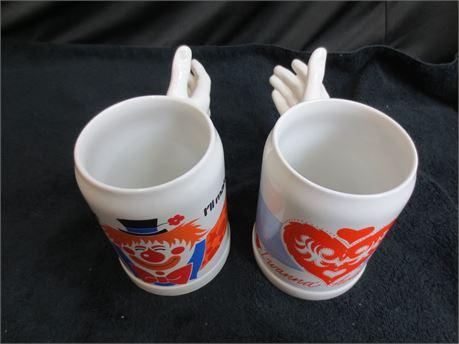 2 Original Gerzit Gerz West Germany Hand Mugs