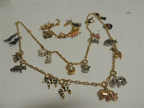 Joan Rivers Noah's Ark Necklace & Bracelet