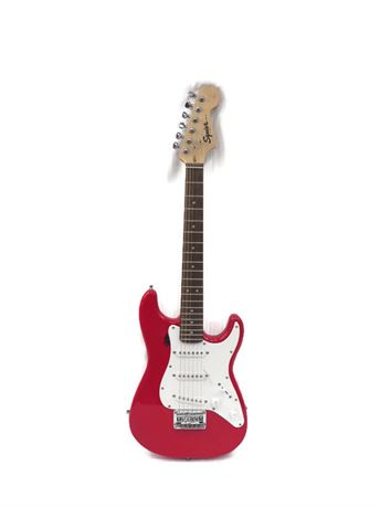 Fender Squier Mini Red 6-String Electric Guitar - Works/Needs Repairs
