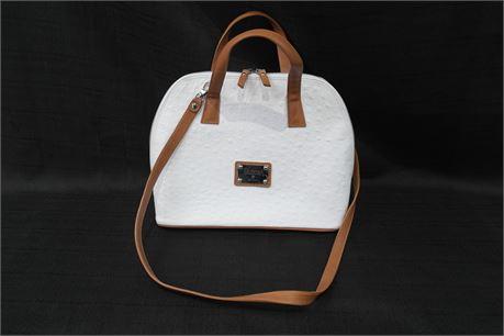 Valentina Womens Handbag White / Tan Made in Italy