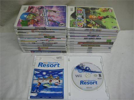 Lot Of 21 Nintendo Wii Video Games Complete
