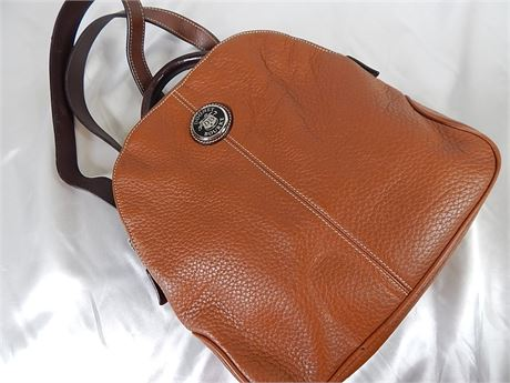 Dooney & Bourke Brown Pebble Leather Back Pack (270R4BS2))