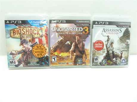 NEW!, 3- PS3 Games (Factory Sealed)