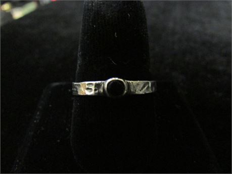 925 Silver Black Spinel Stone Ring