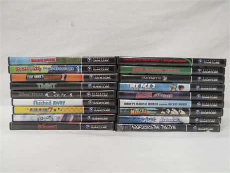 Lot of 18 Nintendo GameCube Video Games All Includes Cases Most Include Manuals