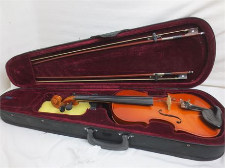Antonius Strings VN-150 3/4 Size Violin in Case with 2 Bows