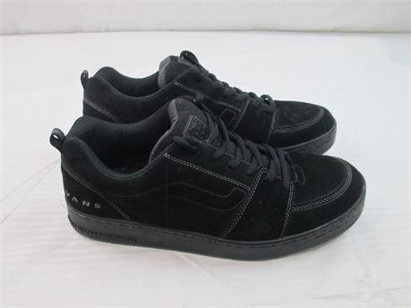 Vans Ashland Black Leather Shoe Mens  Size 14