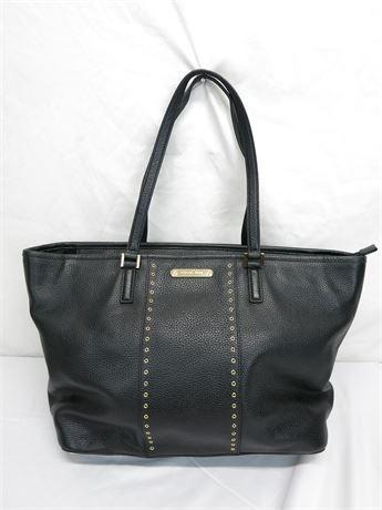 Michael Kors Grommets Carryall Leather Large Black Tote Bag
