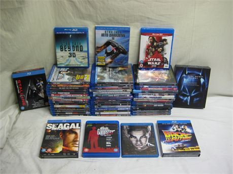 Huge Lot Of 53 Blu-Ray Disc Movies